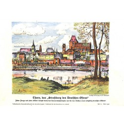 10336 Third Reich print  Thorn, the Strassbourg of the East, printed 1940,