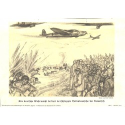 10333	 Third Reich print 	 German Luftwaffe liberates Germans at Lowitsch WWII, printed 1939