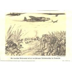 10333 Third Reich print  German Luftwaffe liberates Germans at Lowitsch WWII, printed 1939