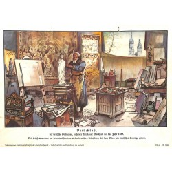 10330 Third Reich print  Veit Stoss, artist in Krakov 1489. He gave the German East it's look
