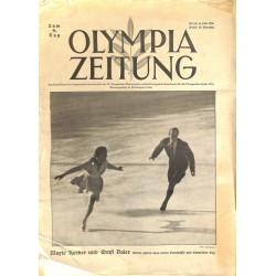 9745	 Third Reich Olympic Winter Games	 OLYMPIA ZEITUNG	 No. 	 10-1936 14.Februar	9th day of the Games