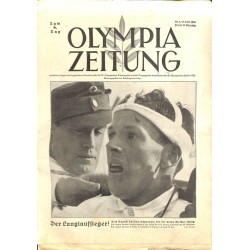 9744 Third Reich Olympic Winter Games OLYMPIA ZEITUNG No.  9-1936 13.Februar 8th day of the Games
