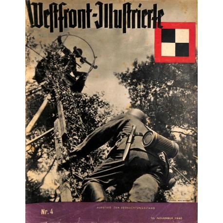 8414 Anit Semitic WESTFRONT-ILLUSTRIERTE No. 4 (10.November 1940)