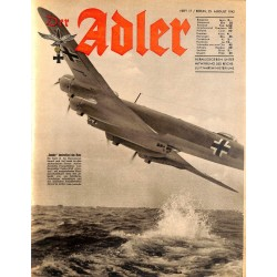 0817	 DER ADLER	 -No.	17	-1942 Europe edition	 vintage German Luftwaffe Magazine Air Force WW2 WWII