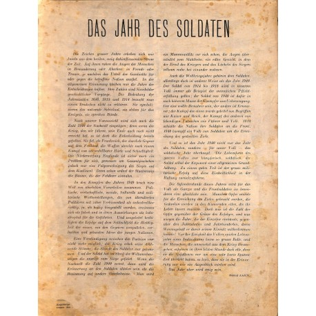 8429 INCOMPLETE - WESTFRONT-ILLUSTRIERTE without Cover pages (maybe No. 9 (Januar 1941)