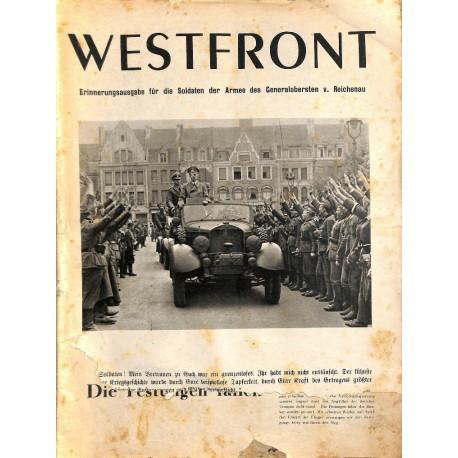 8430 INCOMPLETE - WESTFRONT Erinnerungsausgabe Juli 1940