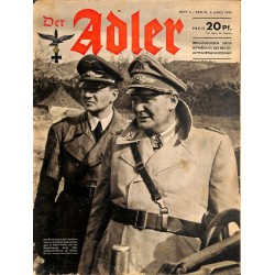 0822	 DER ADLER	 -No.	5	-1942	 vintage German Luftwaffe Magazine Air Force WW2 WWII