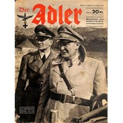 0822 DER ADLER -No.5-1942 vintage German Luftwaffe Magazine Air Force WW2 WWII