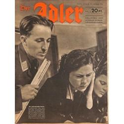 0829 DER ADLER -No.2-1944 vintage German Luftwaffe Magazine Air Force WW2 WWII