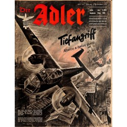 0837 DER ADLER -No.24-1940 Italian issue vintage German Luftwaffe Magazine Air Force WW2 WWII