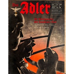 0840	 DER ADLER	 -No.	22	-1940 Italian issue	 vintage German Luftwaffe Magazine Air Force WW2 WWII