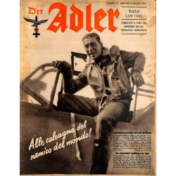 0841	 DER ADLER	 -No.	16	-1941 Italian issue	 vintage German Luftwaffe Magazine Air Force WW2 WWII