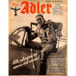 0841 DER ADLER -No.16-1941 Italian issue vintage German Luftwaffe Magazine Air Force WW2 WWII