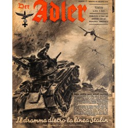 0842	 DER ADLER	 -No.	17	-1941 Italian issue	 vintage German Luftwaffe Magazine Air Force WW2 WWII
