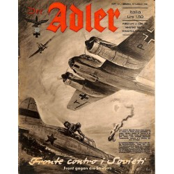 0846	 DER ADLER	 -No.	14	-1941 Italian issue	 vintage German Luftwaffe Magazine Air Force WW2 WWII