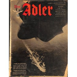 0852	 DER ADLER	 -No.	9	-1942 Italian issue	 vintage German Luftwaffe Magazine Air Force WW2 WWII