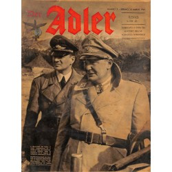 0855	 DER ADLER	 -No.	5	-1942 Italian issue	 vintage German Luftwaffe Magazine Air Force WW2 WWII