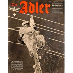 0857	 DER ADLER	 -No.	2.Februar Heft	-1943 Sonderdruck	 vintage German Luftwaffe Magazine Air Force WW2 WWII