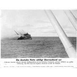 13801 WWII press photo printDie deutsche Flotte schlägt überraschend zurück 1940 Transporter Orama Serie 1416b