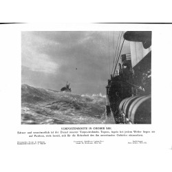 13802	 WWII press photo print	 Vorposten in grober See	Vorpostenboot, Presse Hoffmann