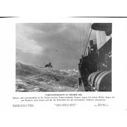13802 WWII press photo print Vorposten in grober SeeVorpostenboot, Presse Hoffmann