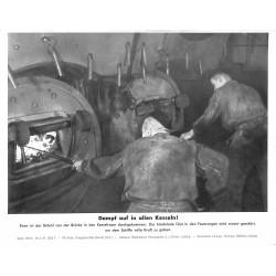 13805 WWII press photo print Dampf auf allen Kesseln! Kriegsmarine, Serie 1553b Bild 7 Pressefoto Aktueller Bilderdienst