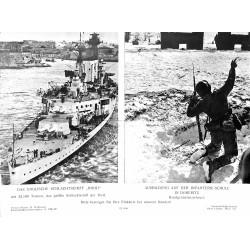 13807 WWII press photo print Das englische Schlachtschiff Hood / Ausbildung auf der Infanterie-Schule in Döberitz 1940
