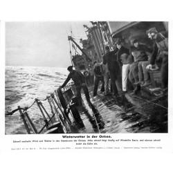 13810 WWII press photo print Winterwetter in der Ostsee Serie 1547d 1943 Pressefoto Aktueller Bilderdienst