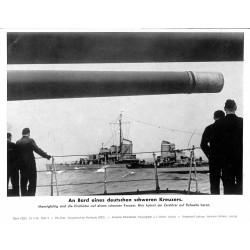 13813 WWII press photo print An Bord eines deutschen schweren Kreuzers Serie 1523a, 1942 Pressefoto Aktueller Bilderdienst