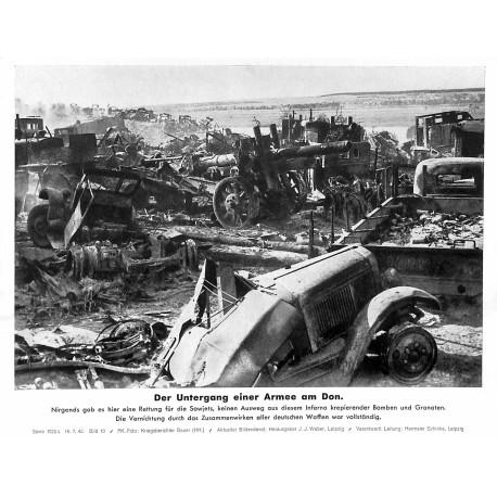 13814 WWII press photo print Der Untergang der Armee am DonRussia, 1942, Serie 1522c Pressefoto Aktueller Bilderdienst