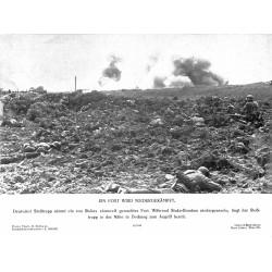 13822 WWII press photo print Ein Fort wird niedergekämpft Russia 1940, Photo Hoffmann
