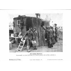13823 WWII press photo print Die tüchtige Hausfrau, Kochwagen Russia, Photo Hoffmann