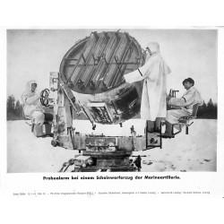 13828 WWII press photo print Probealarm bei einem Scheinwerfer der Marineartillerie Serie 1548d, 1943