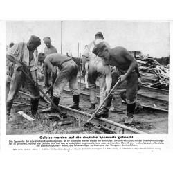 13830 WWII press photo print Geleise werden auf die deutsche Spurweite gebracht Russia, Serie 1475b, 1941