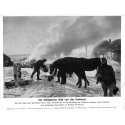 13835 WWII press photo print Ein alltägliches Bild an der Ostfront Russia 1942, Serie 1510a