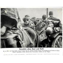 13837 WWII press photo print Vorwärts ohne Rast und Ruh ! Poland 1939, Serie 1377d