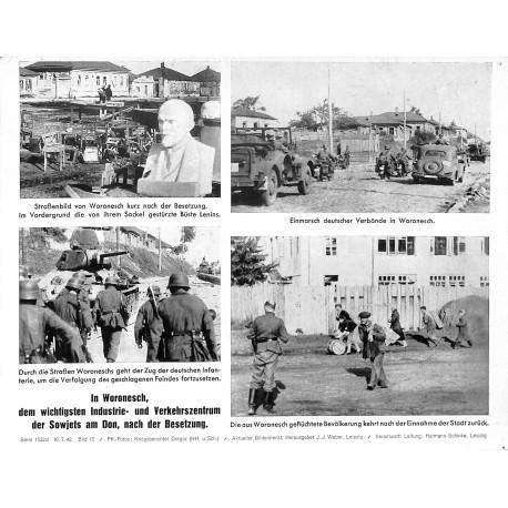 13838 WWII press photo print In Woronesch, dem wichtigsten Industrie- und Verkehrszentrum der Sowjets, nach der Besetzung