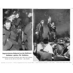 13842 WWII press photo print Improvisiertes Kabarett an der Ostfront Russia 1942, Serie 1501d
