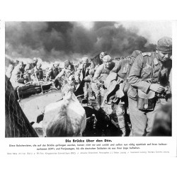 13843	 WWII press photo print	 Die Brücke über den Don	 Russia 1942, Serie 1524a