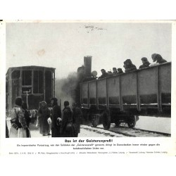 13844 WWII press photo print Das ist der Geisterexpress! Russia 1942, Serie 1507c