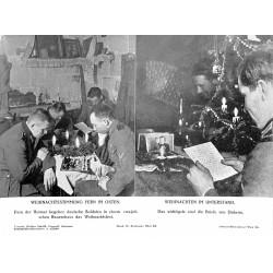 13860 WWII press photo print Weihnachtsstimmung fern im Osten Photo Hoffmann