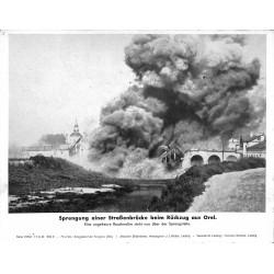 13864 WWII press photo print Sprengung einer Straßenbrücke beim Rückzug aus Orel 1943, Serie 1579b Russia