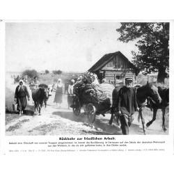 13866 WWII press photo print Rückkehr zur friedlichen Arbeit Russia 1941, Serie 1478d