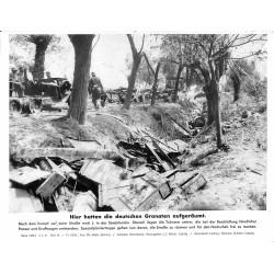 13867 WWII press photo print Hier hatten deutsche Granaten aufgeräumt Russia, 1941 Serie 1468d