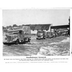 13868 WWII press photo print Unaufhaltsamer Vormarsch Russia, 1941, Serie 1479d