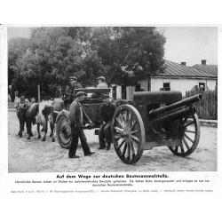 13870 WWII press photo print Auf dem Wege zur deutschen Beutesammelstelle Russia 1941, Serie 1462d