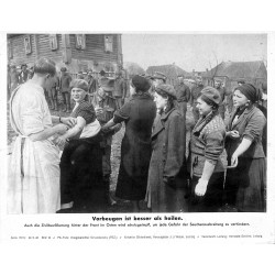 13873 WWII press photo print Vorbeugen ist besser als heilen Russia 1942, Serie 1515c