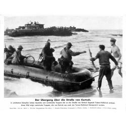 13876 WWII press photo print Der Übergang über die Straße von Kertsch Russia 1942, Serie 1530c