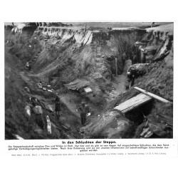 13877 WWII press photo print In den Schluchten der Steppe Russia 1942, Serie 1532c