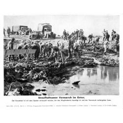 13878 WWII press photo print Unaufhaltsamer Vormarsch im Osten Russia 1942, Serie 1528c
